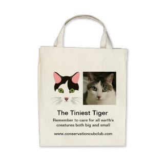 The Tiniest Tiger s Organic Grocery Tote Tote Bags