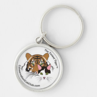 The Tiniest Tiger's Conservation Cub Club Silver-Colored Round Keychain