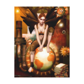 The Tinker Faerie Wrapped Canvas Print