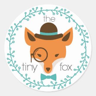 the tiny fox -dapper fox- sticker