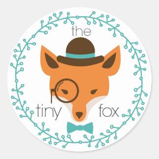the tiny fox -the dapper fox- sticker