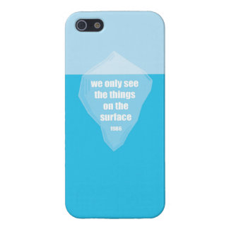 The tip of the Iceberg Quote Cover For iPhone SE/5/5s