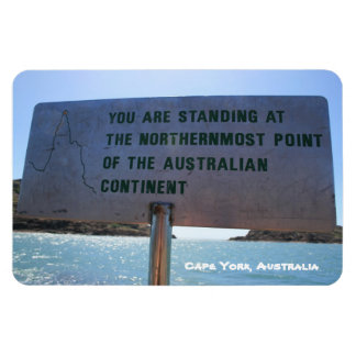 The Tip Sign, Cape York Australia - Premium Magnet