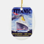 The Titanic Double-Sided Oval Ceramic Christmas Ornament