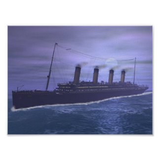 The Titanic Sails Into History Poster