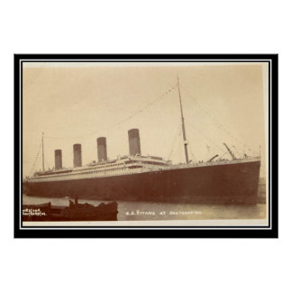 The Titanic Series Old vintage Photo Poster