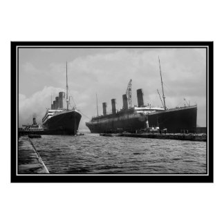 The Titanic series Poster Olympic and Titanic