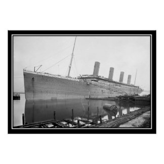 The Titanic Unpainted Photo Poster titanic Series