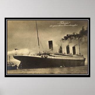 The Titanic vintage Photo Poster titanic Series