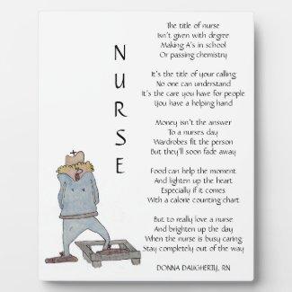 The Title Of Nurse Plaque