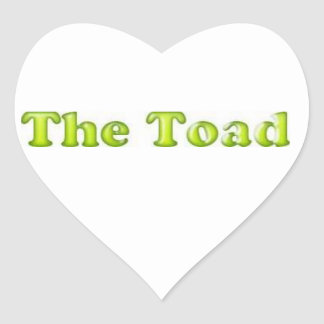 The Toad Heart Heart Sticker