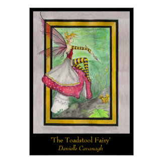 'The Toadstool Fairy' Print