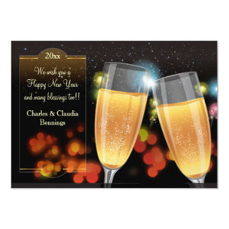 The Toast New Year Holiday Card Personalized Invitation