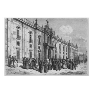 The tobacco factory at Seville Poster