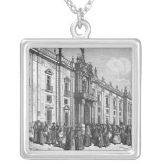 The tobacco factory at Seville Square Pendant Necklace