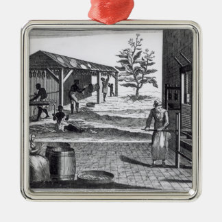The Tobacco Manufactory in Different Branches Christmas Ornaments