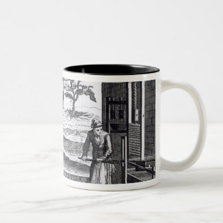 The Tobacco Manufactory in Different Branches Two-Tone Coffee Mug