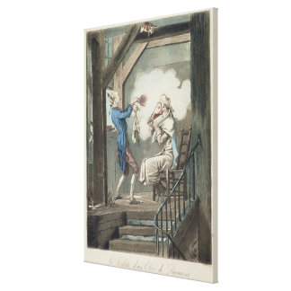 The Toilet of an Attorney's Clerk, engraved by Phi Canvas Print