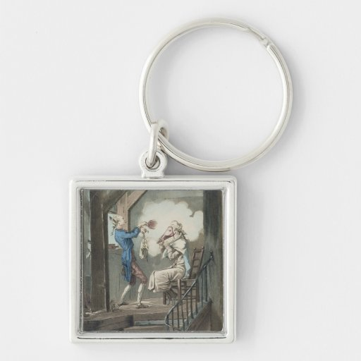 The Toilet of an Attorney's Clerk, engraved by Phi Keychain