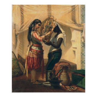 The Toilet of the Odalisque Poster