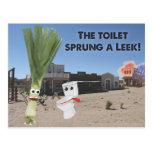 The Toilet Sprung a Leek! Postcard