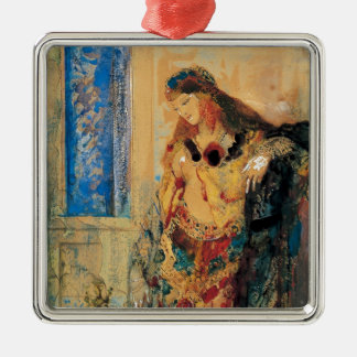 The Toilette by Gustave Moreau Square Metal Christmas Ornament