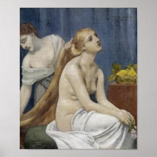 The Toilette by Puvis de Chavannes, 1883 Poster