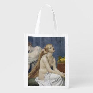 The Toilette by Puvis de Chavannes Grocery Bag