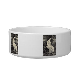 The Toillette by Edouard Manet Cat Food Bowl
