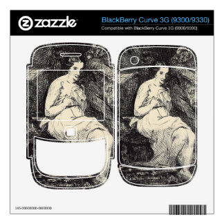 The Toillette by Edouard Manet BlackBerry Curve Decals