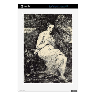 The Toillette by Edouard Manet Decal For The PS3