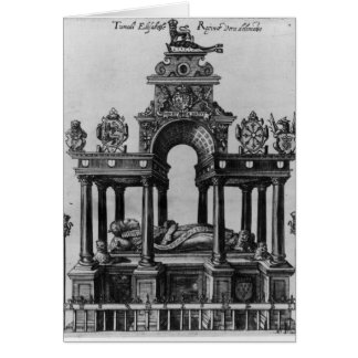 The Tomb of Elizabeth I, 1620 Card