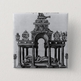 The Tomb of Elizabeth I, 1620 Pinback Button