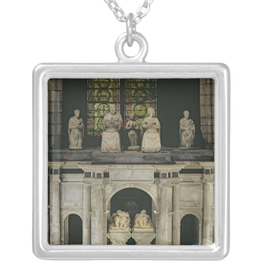The Tomb of Francois I  and Claude of France Silver Plated Necklace