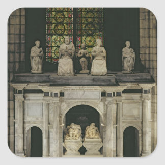 The Tomb of Francois I  and Claude of France Square Sticker