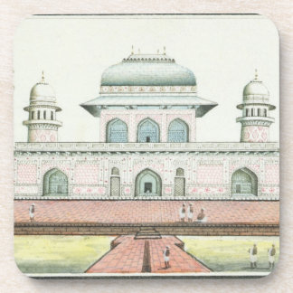 The Tomb of Itimad-Ud-Daula near Agra c 1830s w Beverage Coaster