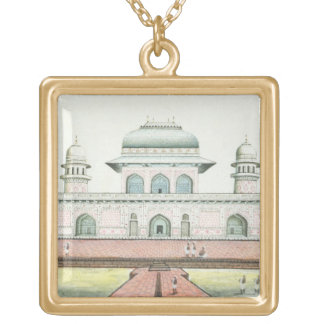 The Tomb of Itimad-Ud-Daula, near Agra, c.1830s (w Gold Plated Necklace