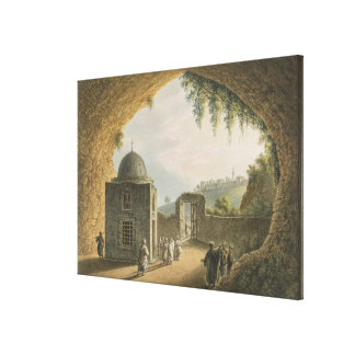The Tomb of Jeremiah, pub. by William Watts, 1801 Canvas Print