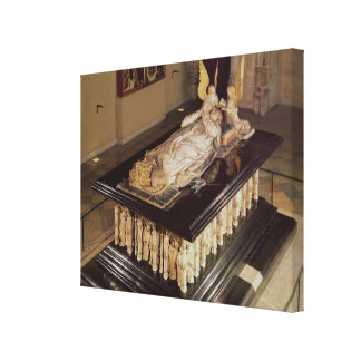 The tomb of Philip the Bold Duke of Burgundy Gallery Wrap Canvas