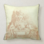 The Tomb of Pope Urban VIII (1568-1644) by Gianlor Throw Pillows