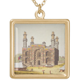 The Tomb of the Mughal emperor Akbar, from 'Le Cos Gold Plated Necklace