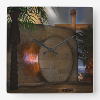 The Tomb Square Wall Clock