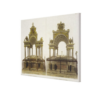 The Tombs of Queen Elizabeth I and Mary Queen of S Canvas Print