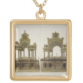 The Tombs of Queen Elizabeth I and Mary Queen of S Gold Plated Necklace