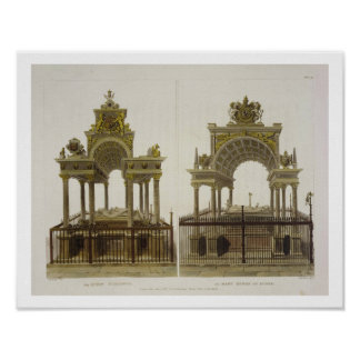 The Tombs of Queen Elizabeth I and Mary Queen of S Poster