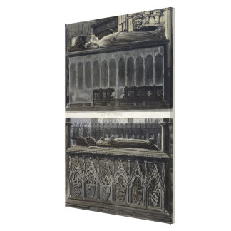 The Tombs of Queen Philippa and Queen Eleanor, pla Canvas Print