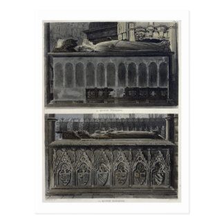 The Tombs of Queen Philippa and Queen Eleanor, pla Postcard