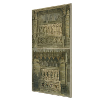 The Tombs of Richard the Second and Edward the Thi Canvas Print