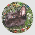 The tomcat in the Christmas tree - stickers