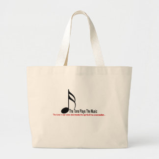 The Tone Plays The Music Large Tote Bag
